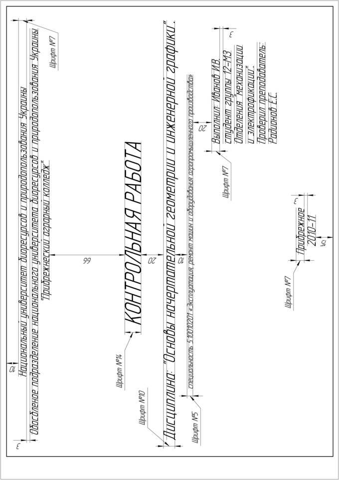 Образец Титульного Листа По Инженерной Графике