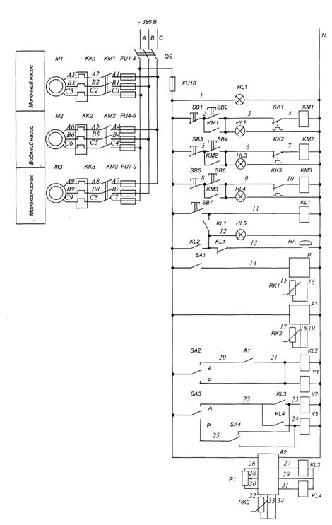 схема установки ОПФ-1.